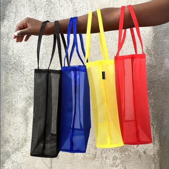 Walker Handbags - Blue Mesh Open Tote / Walker Bag
